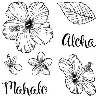 Close To My Heart B1527 Hawaiian Hibiscus Stamp Set Retires 08 31 2016 Jannactmh