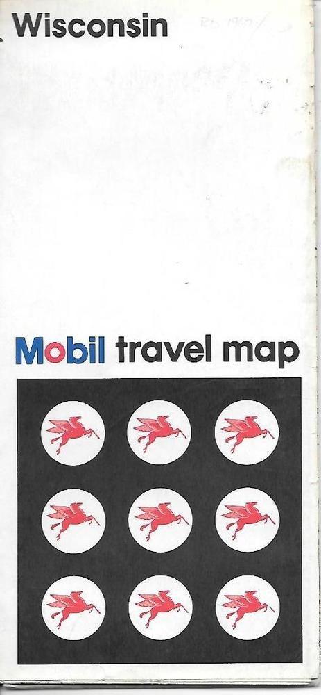 Mobile Oil Wisconsin US Vintage Road Map B BK Roads Road - 1967 road map us