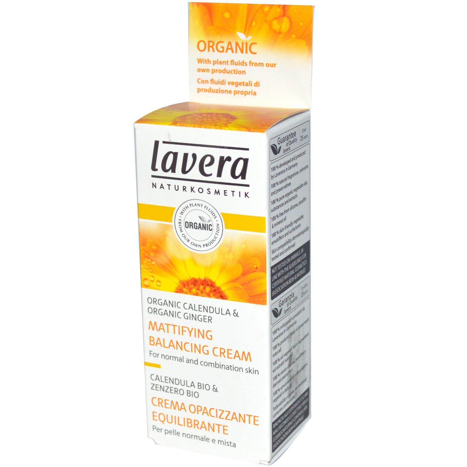 Lavera Naturkosmetic Mattifying Balancing Cream Organic Calendula Calendula Natural Fragrances Natural Cosmetics