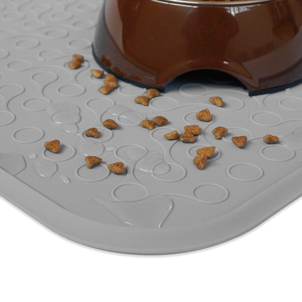 WooPet! Pet Feeding Mat 24x16 Grey Extra Large Premium