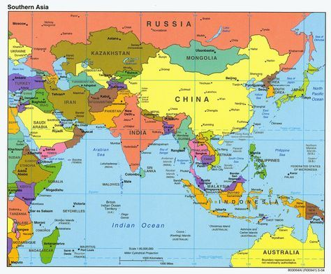 Map Of Asia Mapa De Asia Mapa Asia Politico Y Japon Mapa
