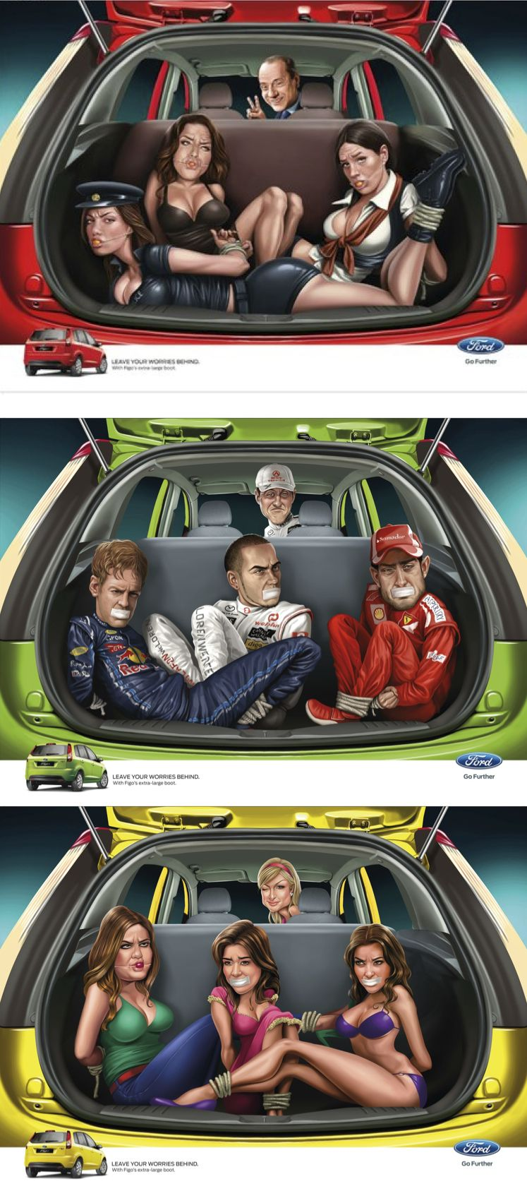 Ads Created To Promote The Ford Figo Hatchback In India One