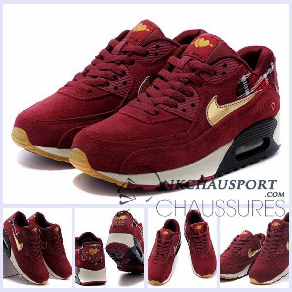 Nike Chaussures Air Max 90 Meilleur Chaussures Nike Running Homme Bordeaux 4b66f5