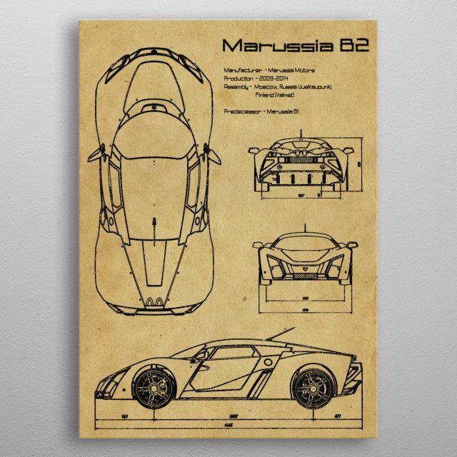 Marussia B2 by FARKI15 DESIGN   metal posters - Displate   Displate thumbnail