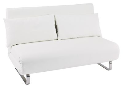 Dwell Stylus Faux Leather Sofa Bed White 479 Sofa Bed Faux