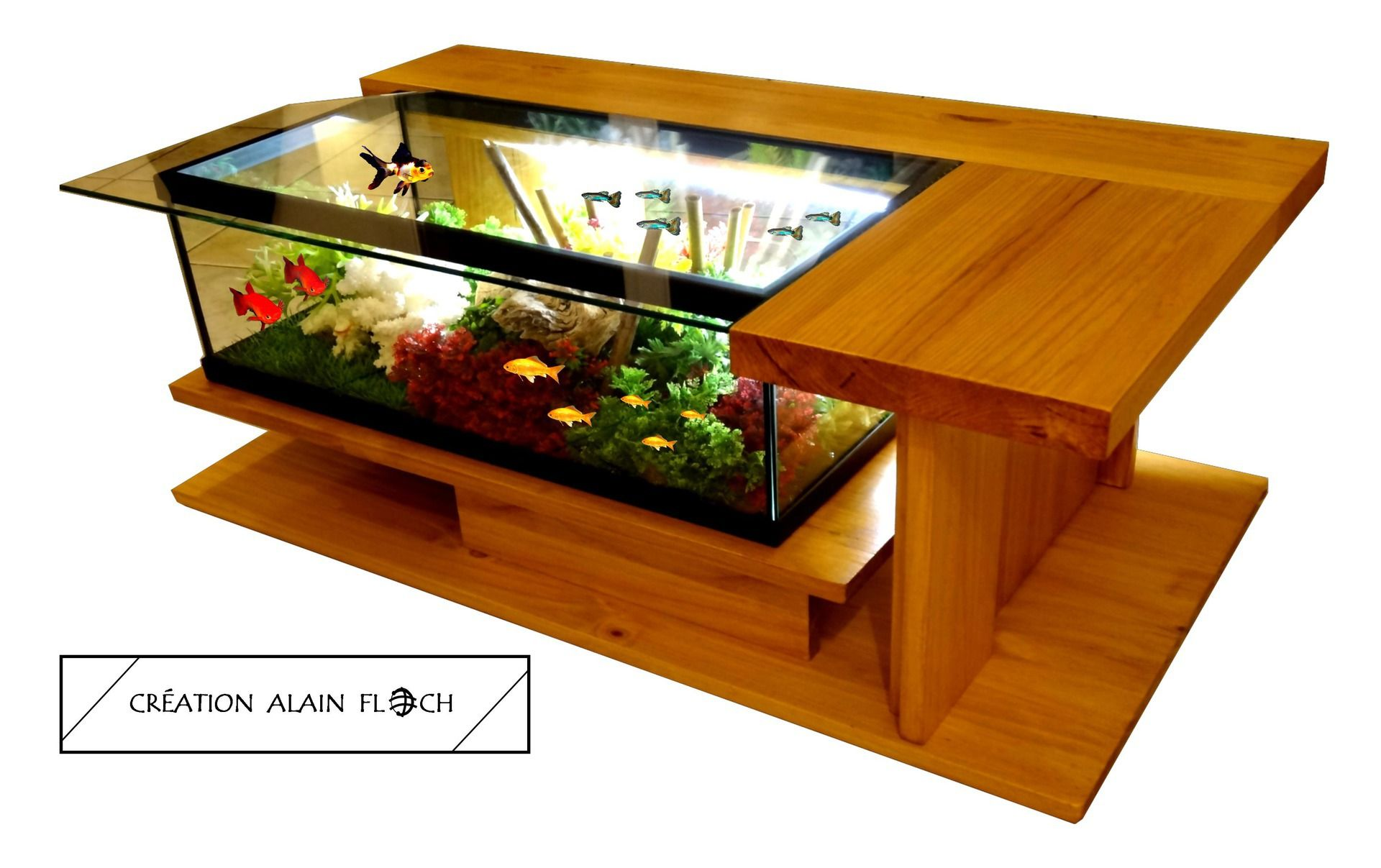 Configuration Detail Glass Enclosed Bedrooms And Bathrooms Table Basse Aquarium Meuble Table Basse