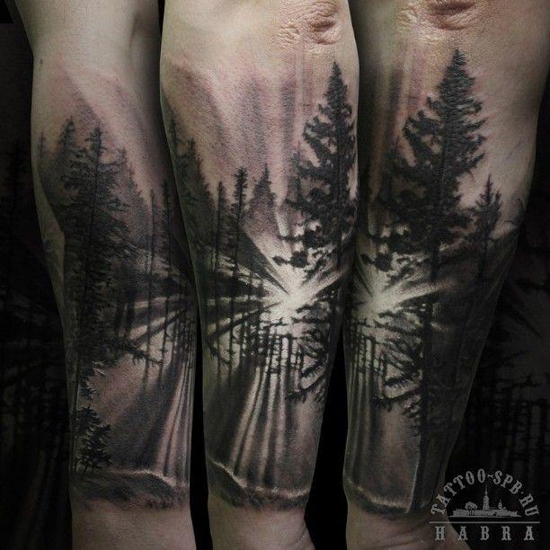 tree and lake tattoo nikola ivanov design a wonderful forest tree tattoo ideas. Black Bedroom Furniture Sets. Home Design Ideas
