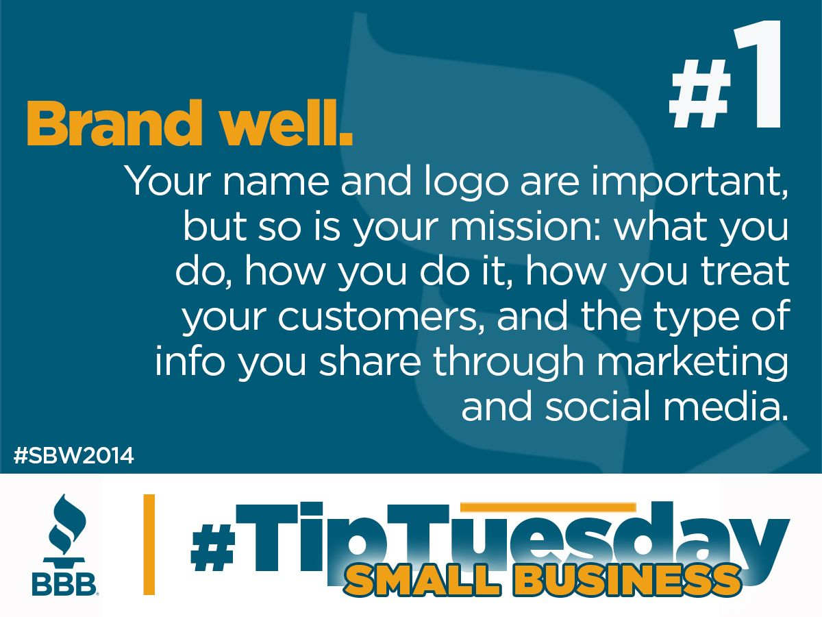 Tip 1 Brand well. TipTuesday 5.13.14 Financial