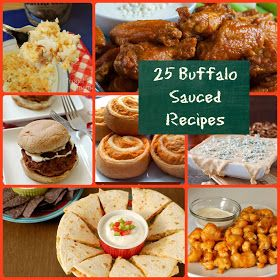 25 Buffalo Sauced Recipes {A Recipe Round-Up} via thefrugalfoodiemama.com #buffalosauce #buffalochicken #gamedayrecipes