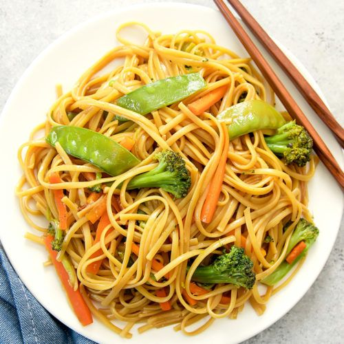 stir fry zucchini noodles chow mein | recipe | instant pot