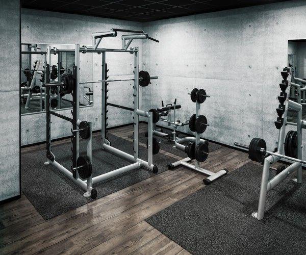 Pesas libres en los gimnasios mcfit gym pinterest for Espejos para gimnasio