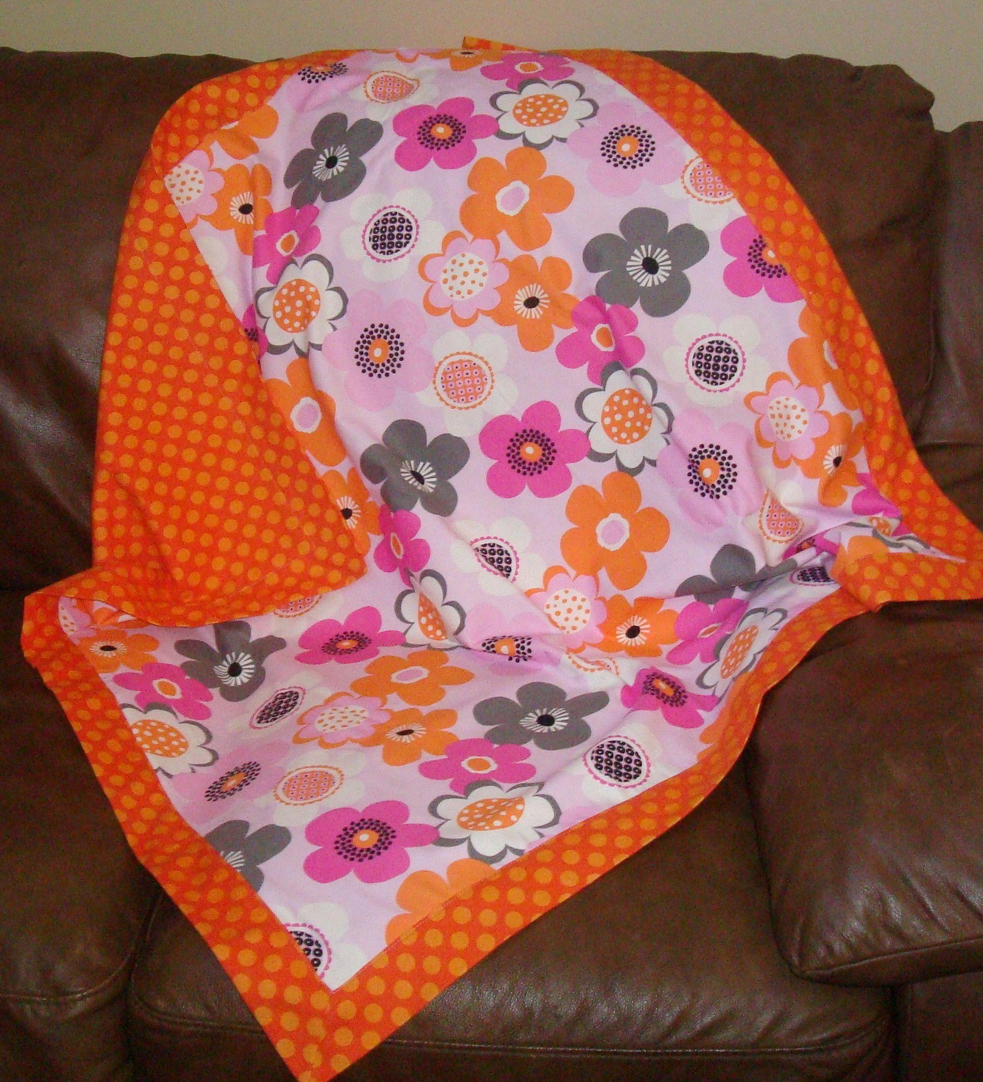 Self-binding Flannel Receiving Blanket