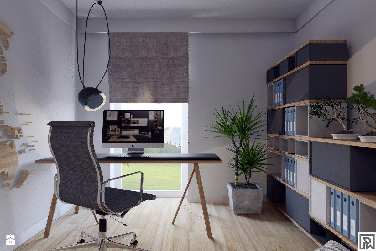 Projekt gabinetu/pokoju dla gości - zdjęcie od Architekt Wnętrz Patrycja Wojtaś - Biuro - Styl Nowoczesny - Architekt Wnętrz Patrycja Wojtaś
