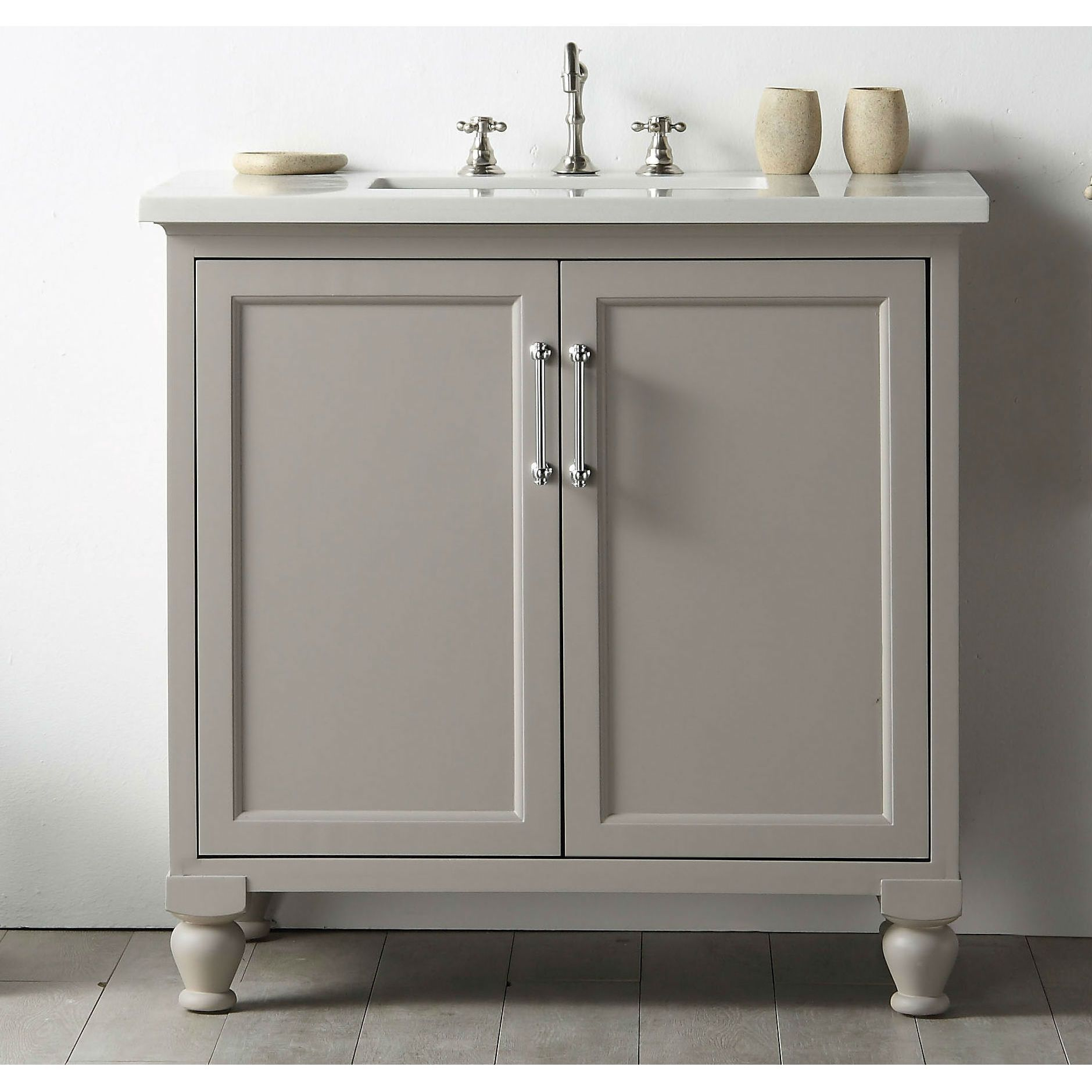 Legion Furniture Quartz Top Inch Warm Grey Single Bathroom