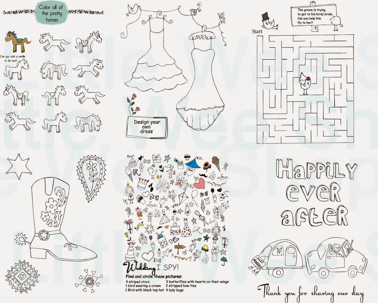 Wedding coloring book activities - Wedding Coloring Activity Books For Kids Wedding Favors For Kids Wedding Coloring Book