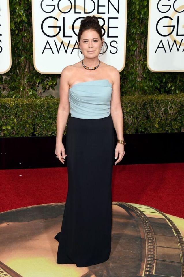 Worst: Maura Tierney in Elizabeth Kennedyat the 73rd Annual Golden Globe Awards.