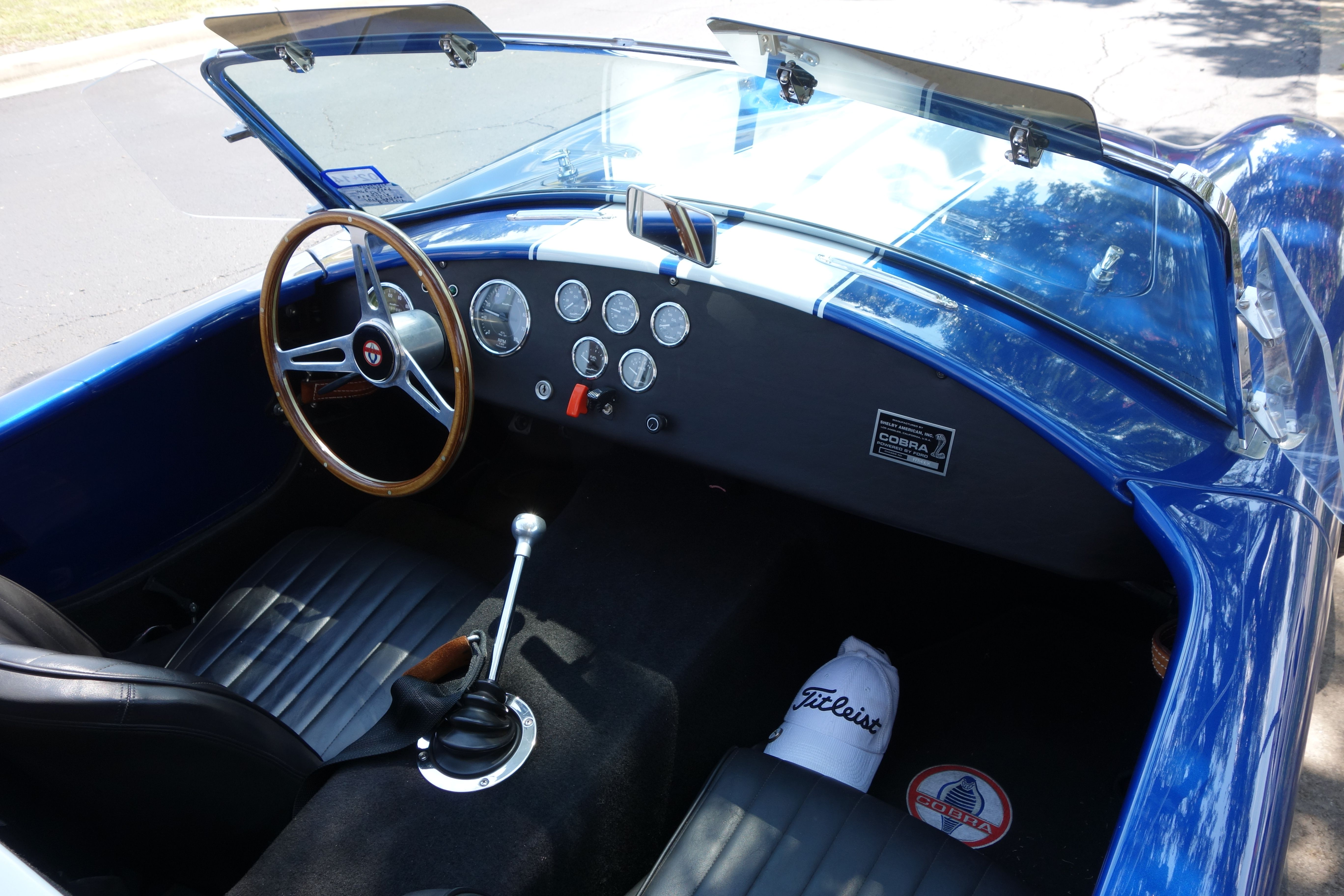 Cockpit view of shelby cobra