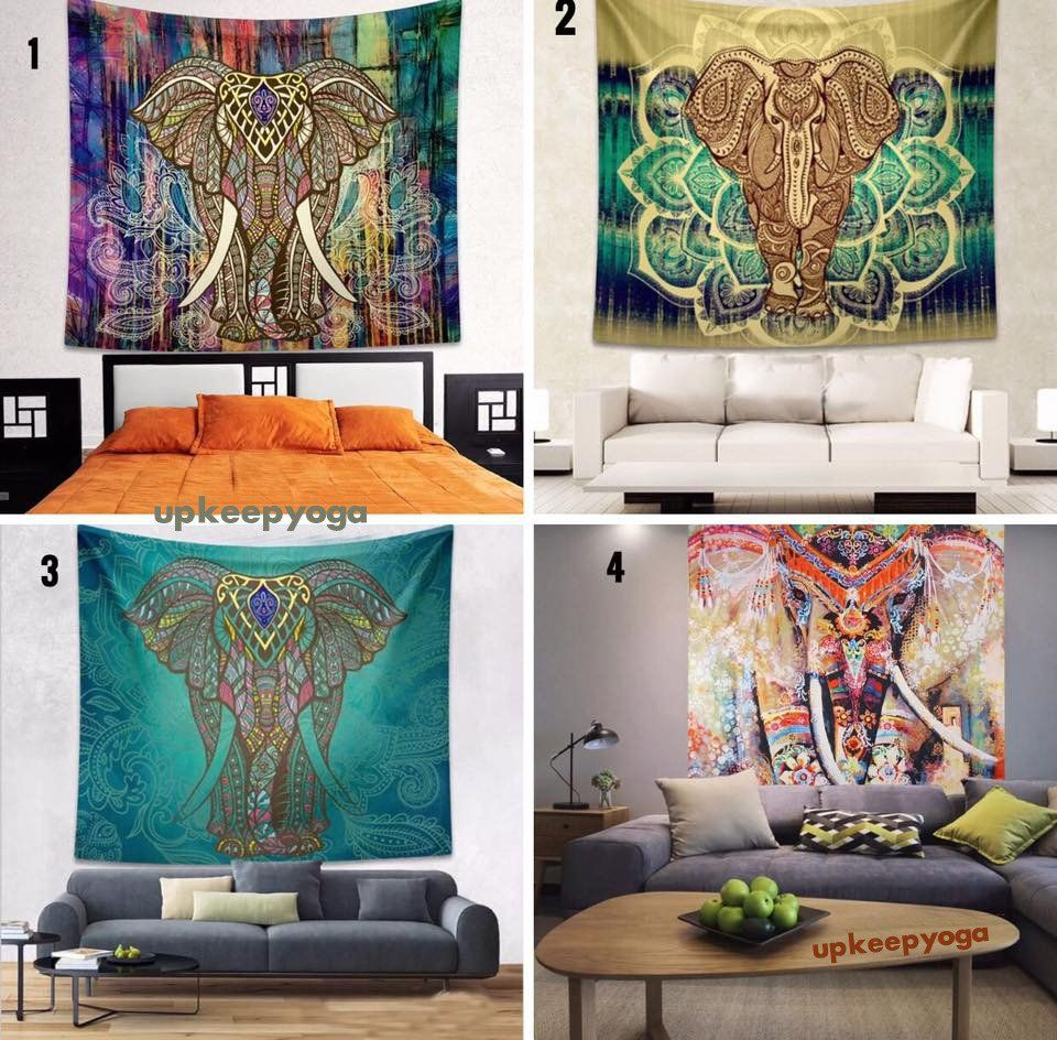 LIMITED EDITION DESIGN  Go For A Dramatic Makeover At Your Home And Enjoy A  Wonderful Design With Our Limited Edition Elephant Mandala Tapestry!