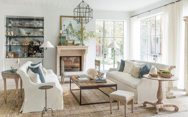 Decor Inspiration: Modern Farmhouse Style. Chic Living RoomLiving ...