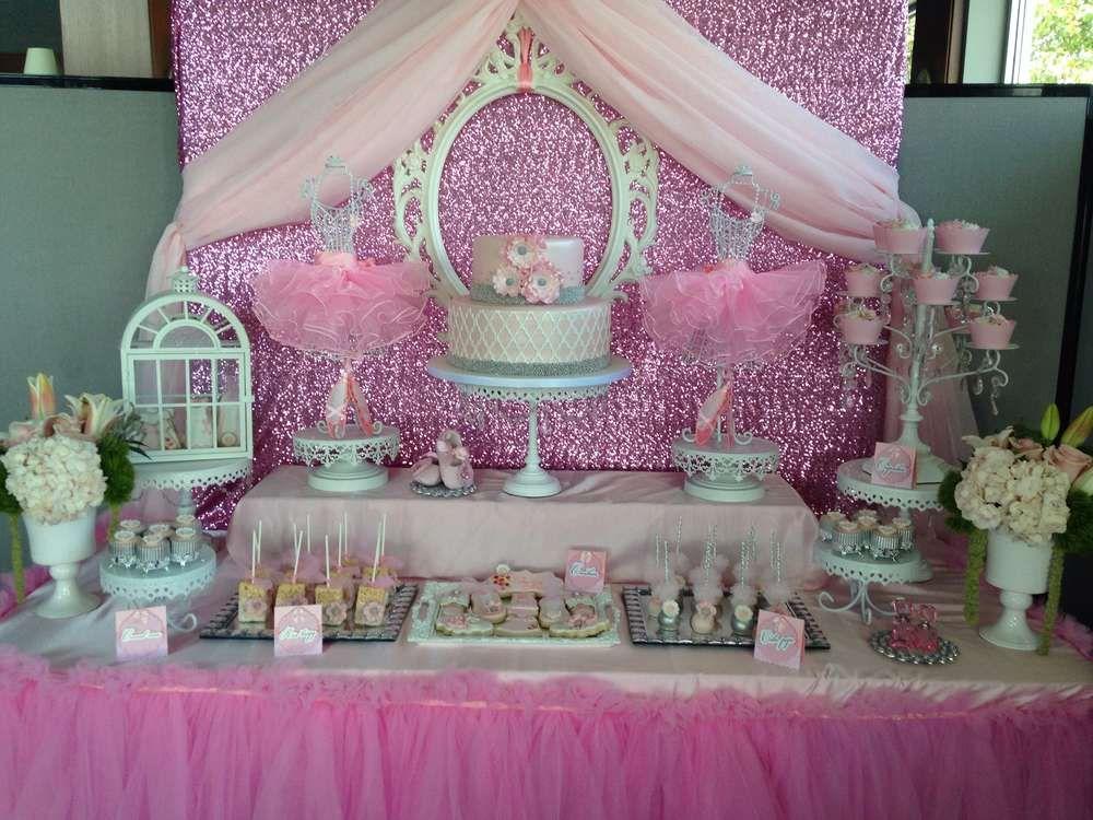 Ballerina baby shower party ideas photo 1 of 33 catch - Catch de fille ...