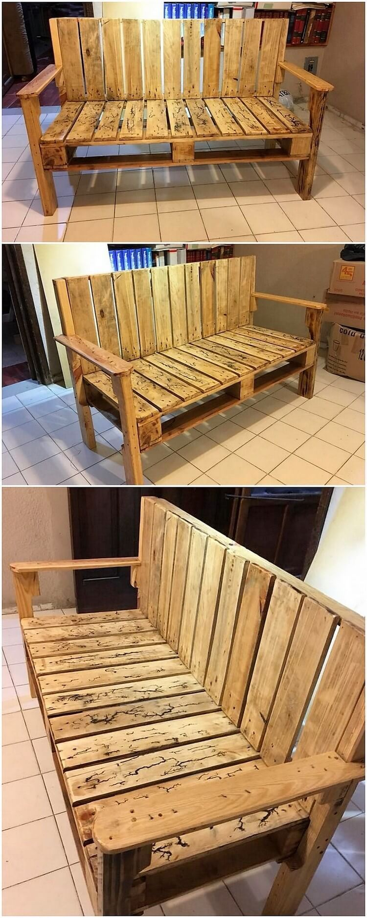 Wood Pallet Bench Diy Pallet Couch Wood Pallet Recycling Wood Pallets