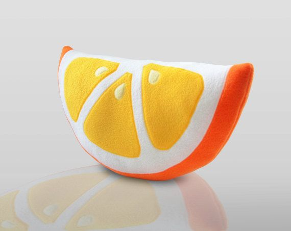 orange pillow cute pillow by on etsy