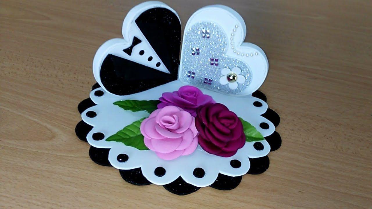 فكرة عمل هدية بورق الفوم عمل يدوي بورق الفوم للديكور Bella Idea Con C Christmas Ornaments To Make Diwali Decoration Items Card Making Videos