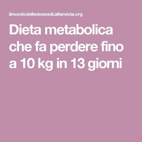 dieta per 13 giorni