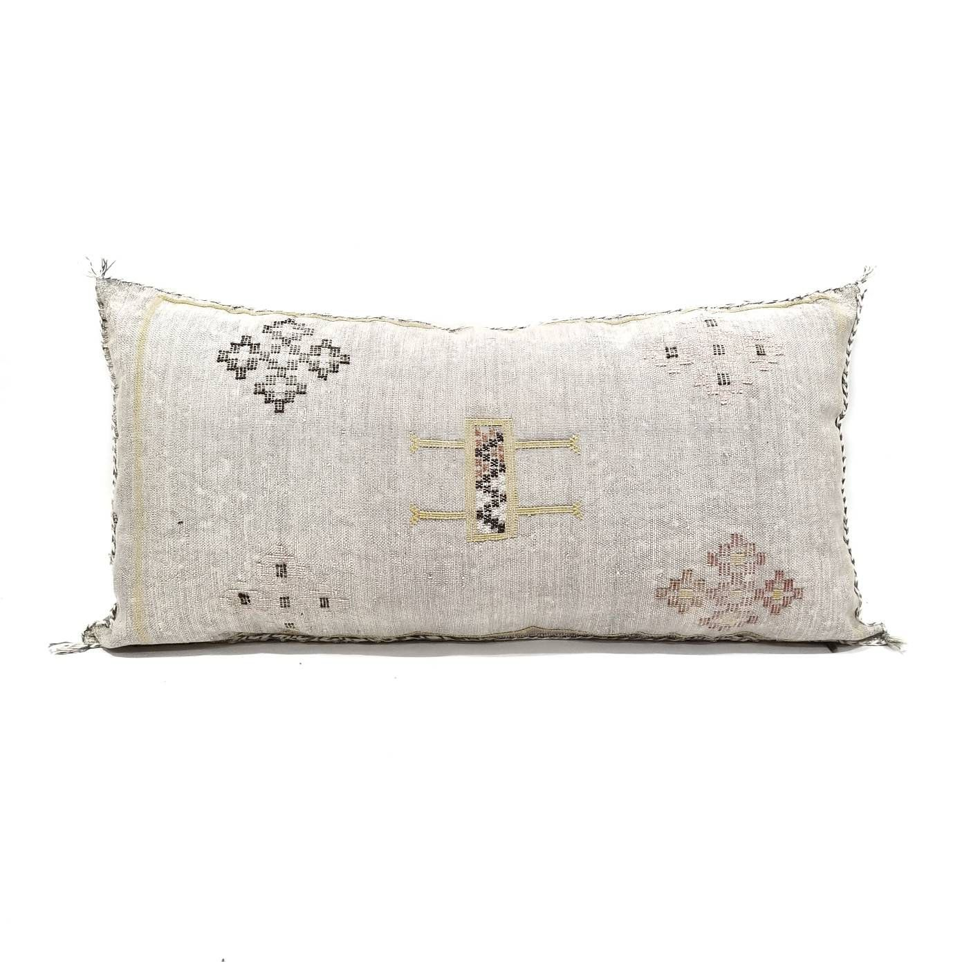 19x 35 Giant King Size Moroccan Cactus Silk Sabra Pillow Cover With Zipper Closure Ed