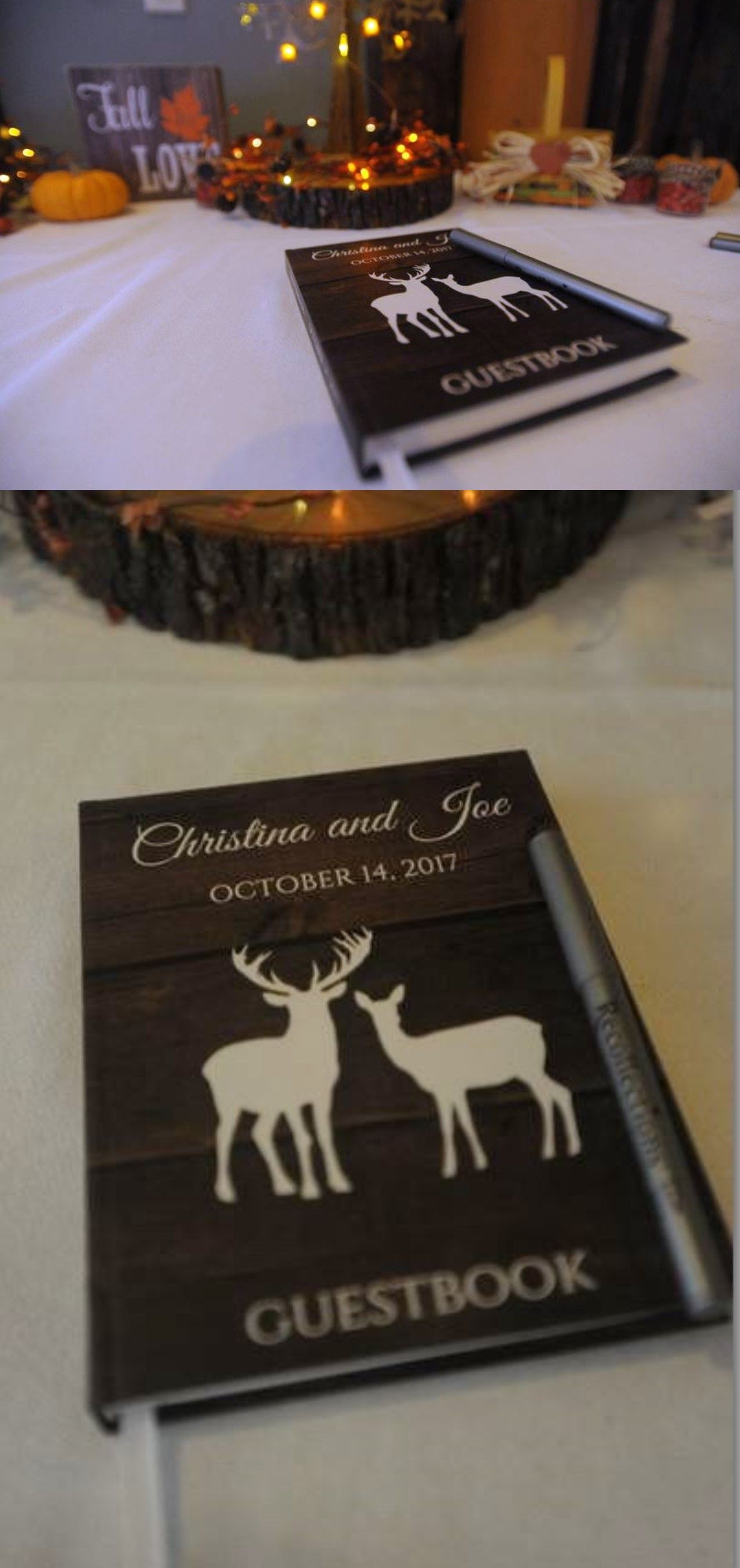 Deer guestbook perfect idea for a rustic wedding with