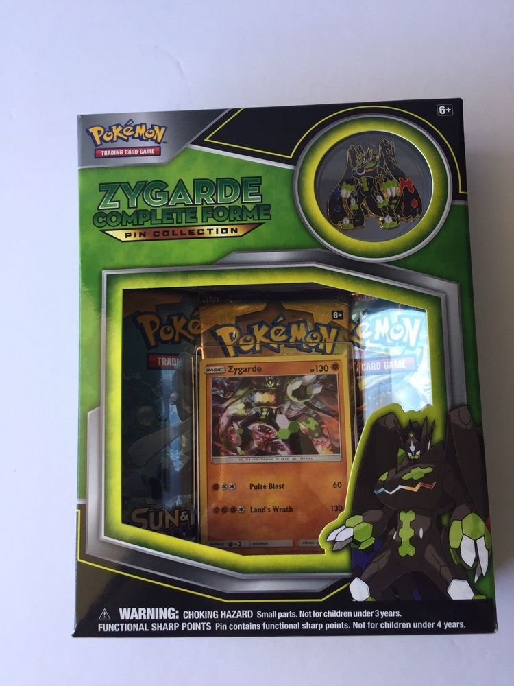 Pokemon TCG Zygarde Complete Collection Pin Box. NEW Sun and Moon