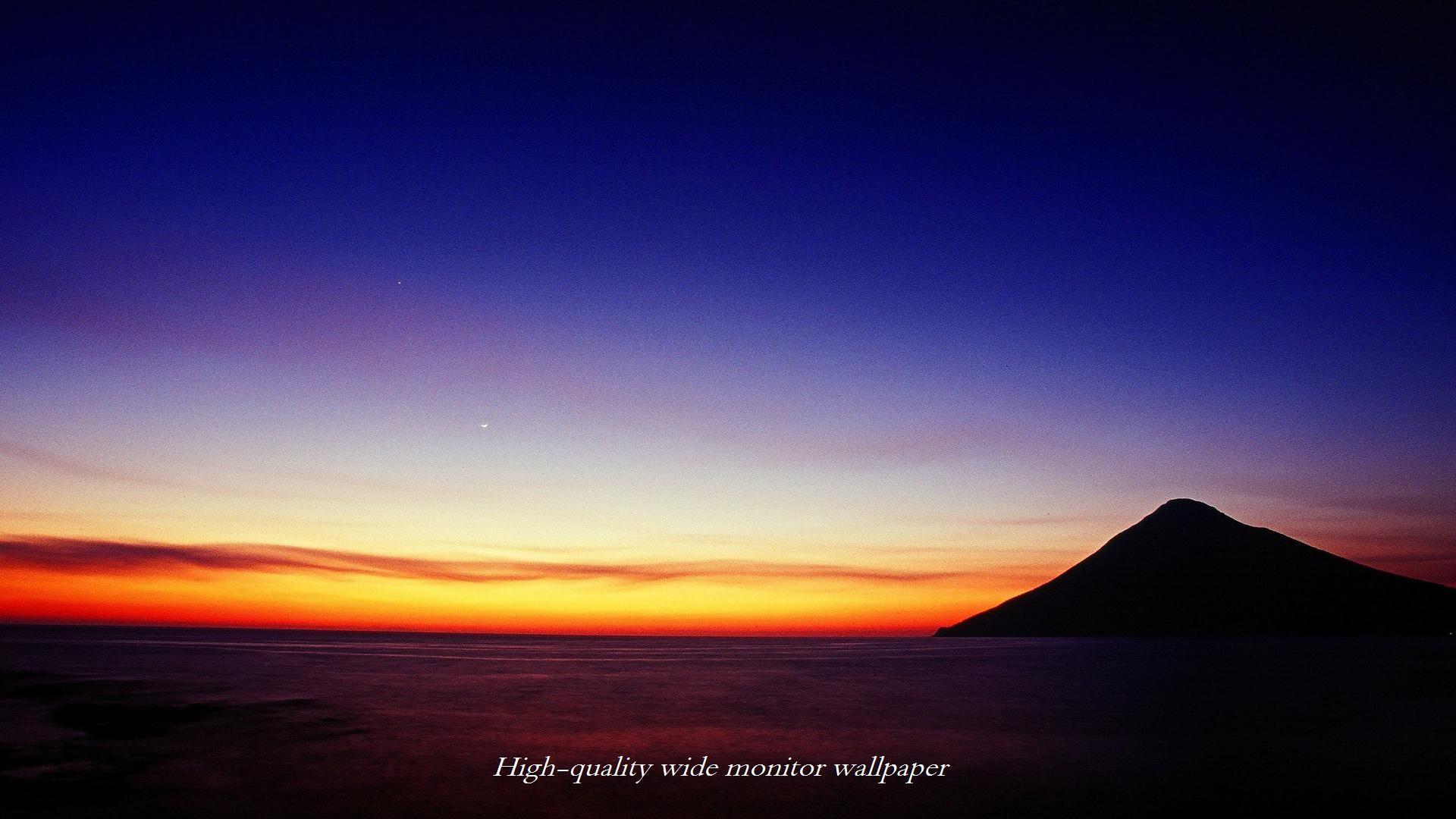 薩摩富士夕景をモチーフにしましたアスペクト比16 9のモニター