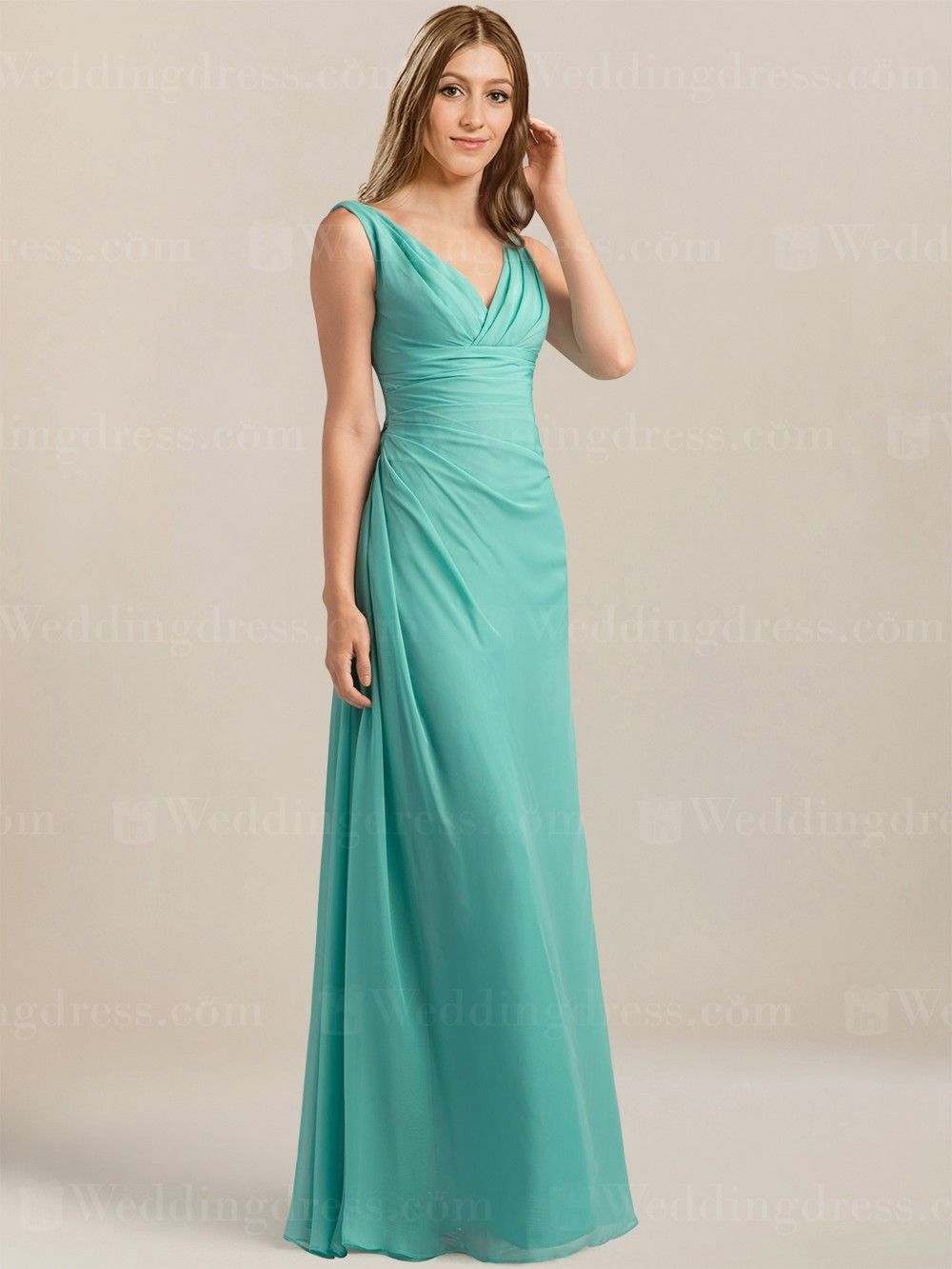 V-Neck Long Bridesmaid Dress BR617 | Long bridesmaid dresses ...