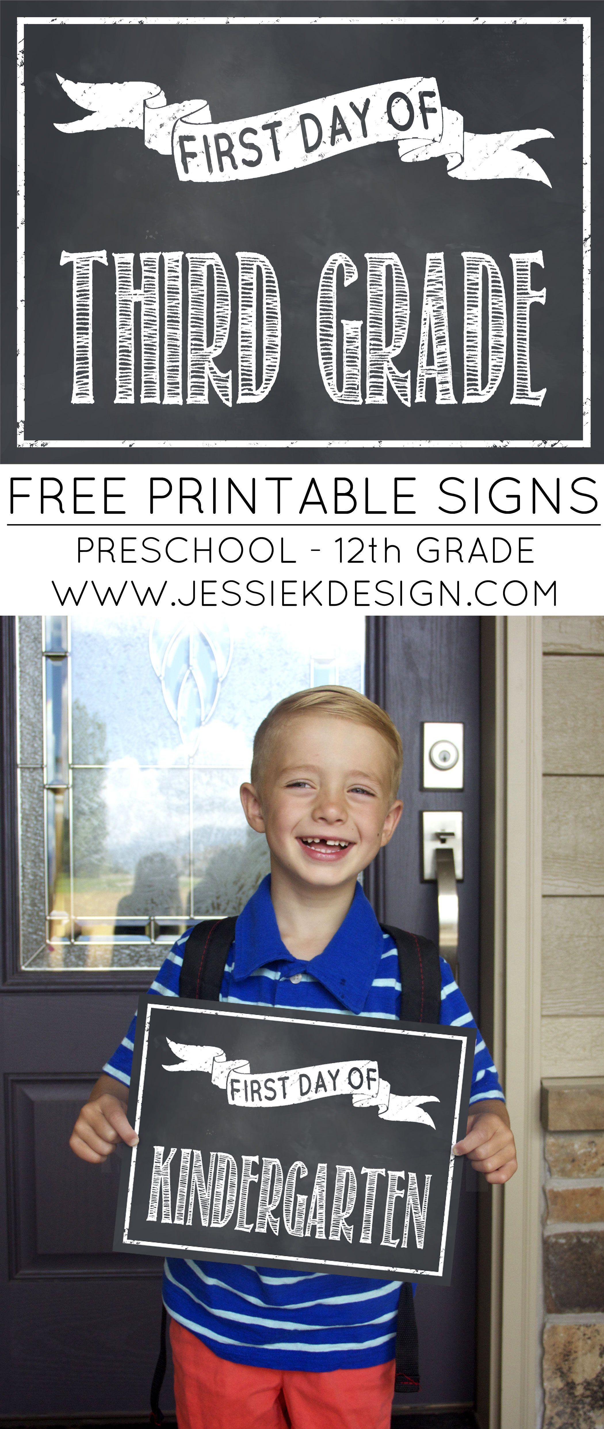 Classic Chalkboard Back To School Milestone Signs