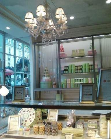 Laduree, Paris, April 2012. The place is actually packed but I took a tight shot that ended up looking like a postcard.