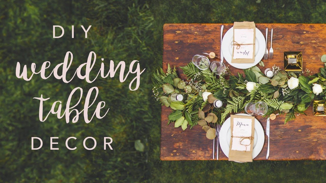 DIY WEDDING TABLE DECOR *SWOONS* Wedding table