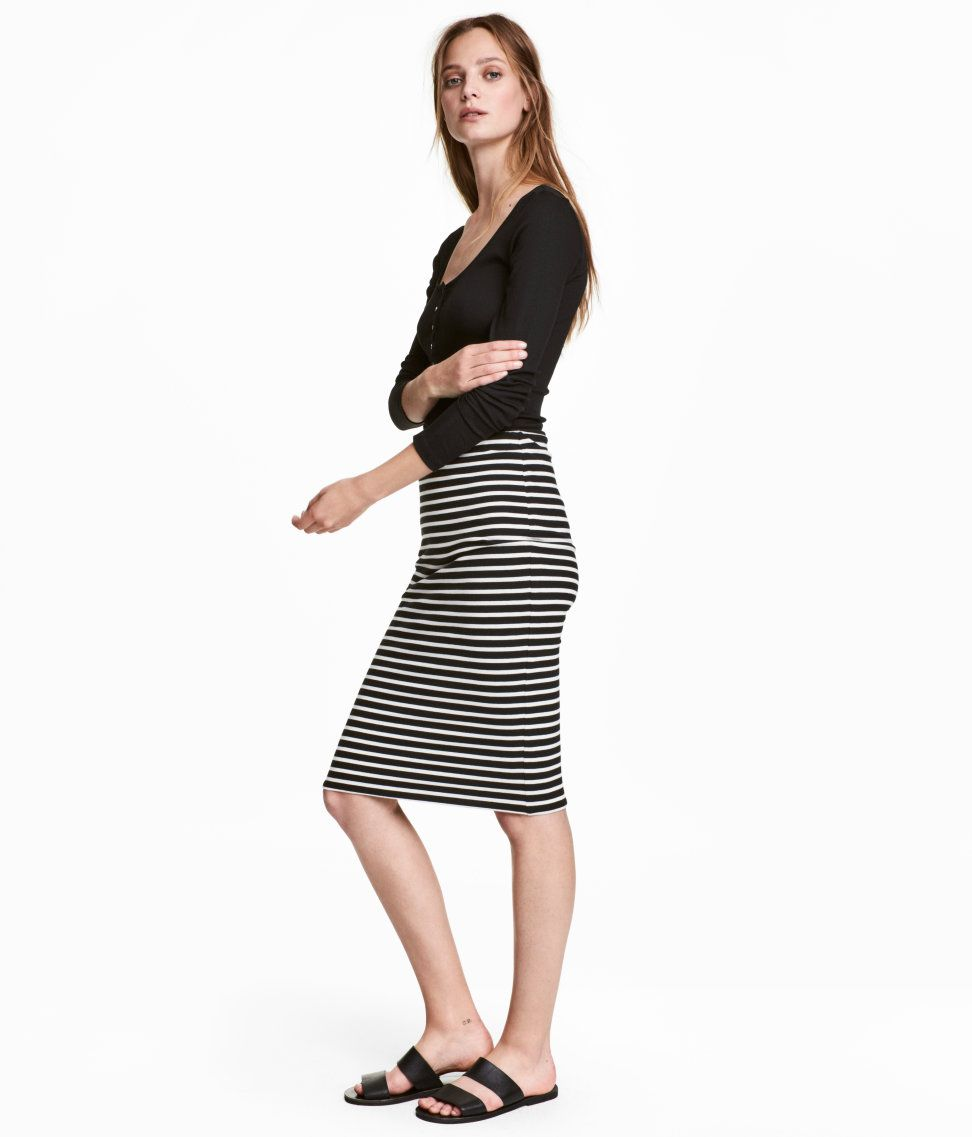 Check this out kneelength skirt in doublelayer jersey with