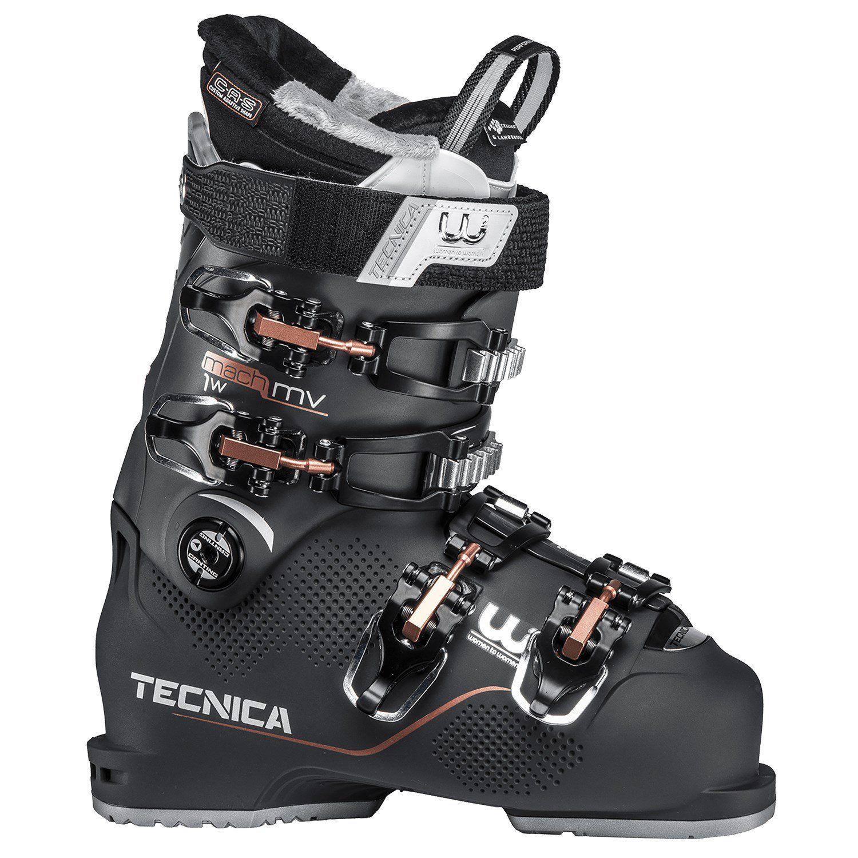 Women's Tecnica Mach1 95 MV Ski Boots 2019 24.5 in Black