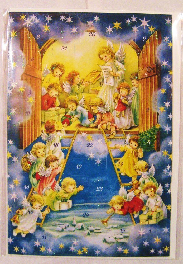 Vintage German Advent Calender Card W Envelope Unused Korsch Verlag Brand Adventkalender Adventskalender Advent