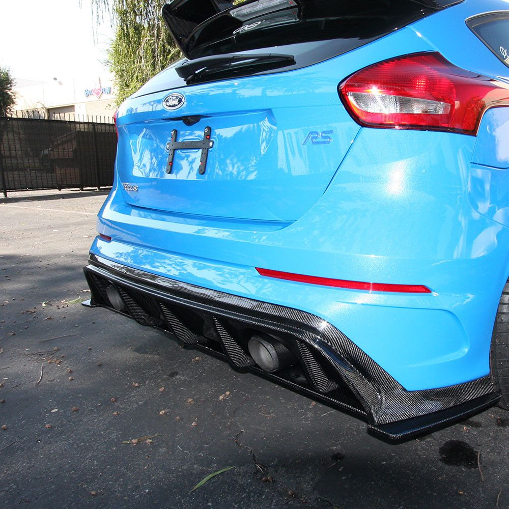 2016 2017 focus rs carbon fiber rear diffuser