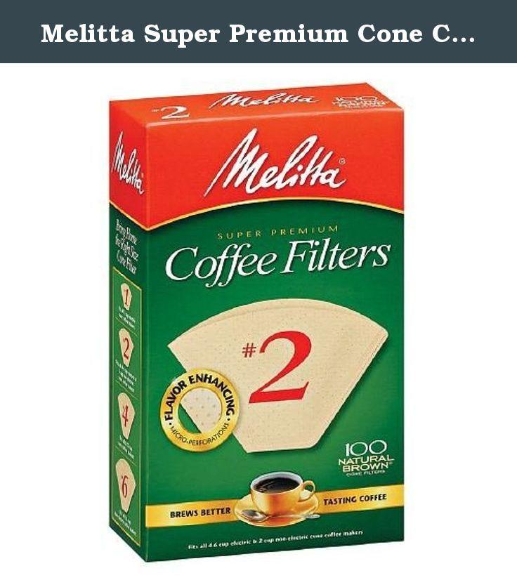 Melitta Super Premium Cone Coffee Filter, 2 100 Ea (1
