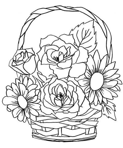 Colorir Imprimir ou Online is part of Flower coloring pages -