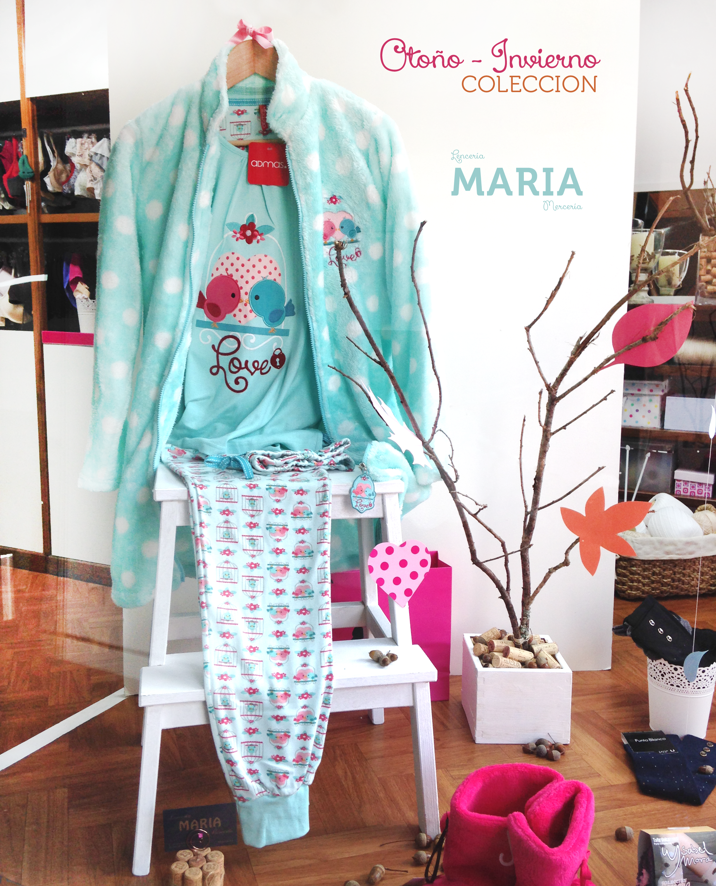 a97bd4ef8 Pijamas y batas de invierno - Escparate de la tienda en  Negreira   LenceriaMaria