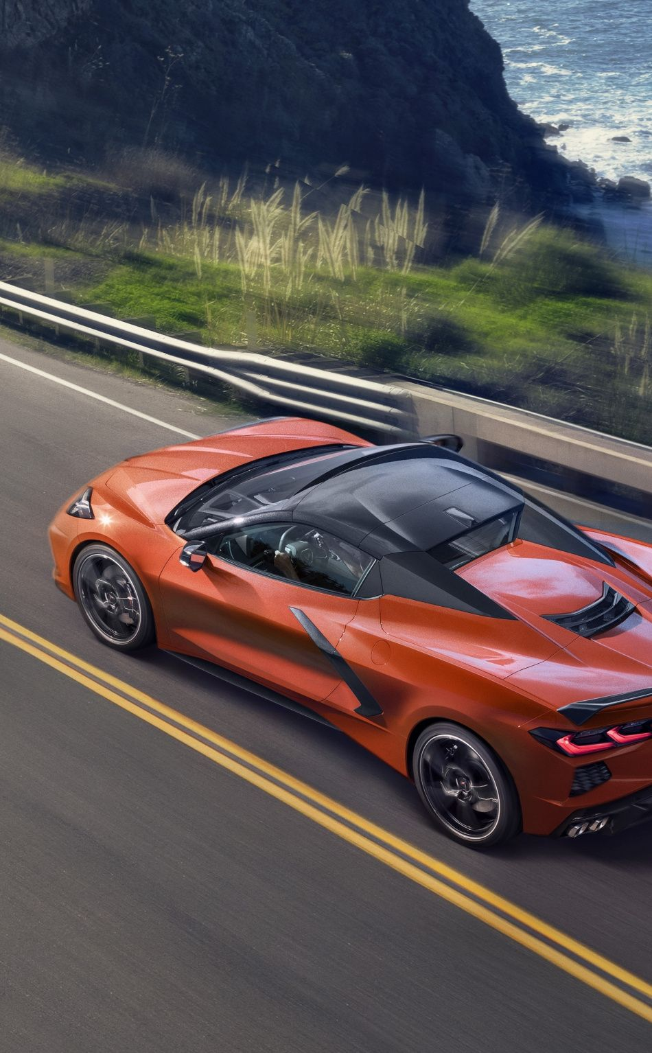 950x1534 Orange Chevrolet Corvette C8 Sports Car 2019 Wallpaper Corvette Chevrolet Corvette Chevrolet