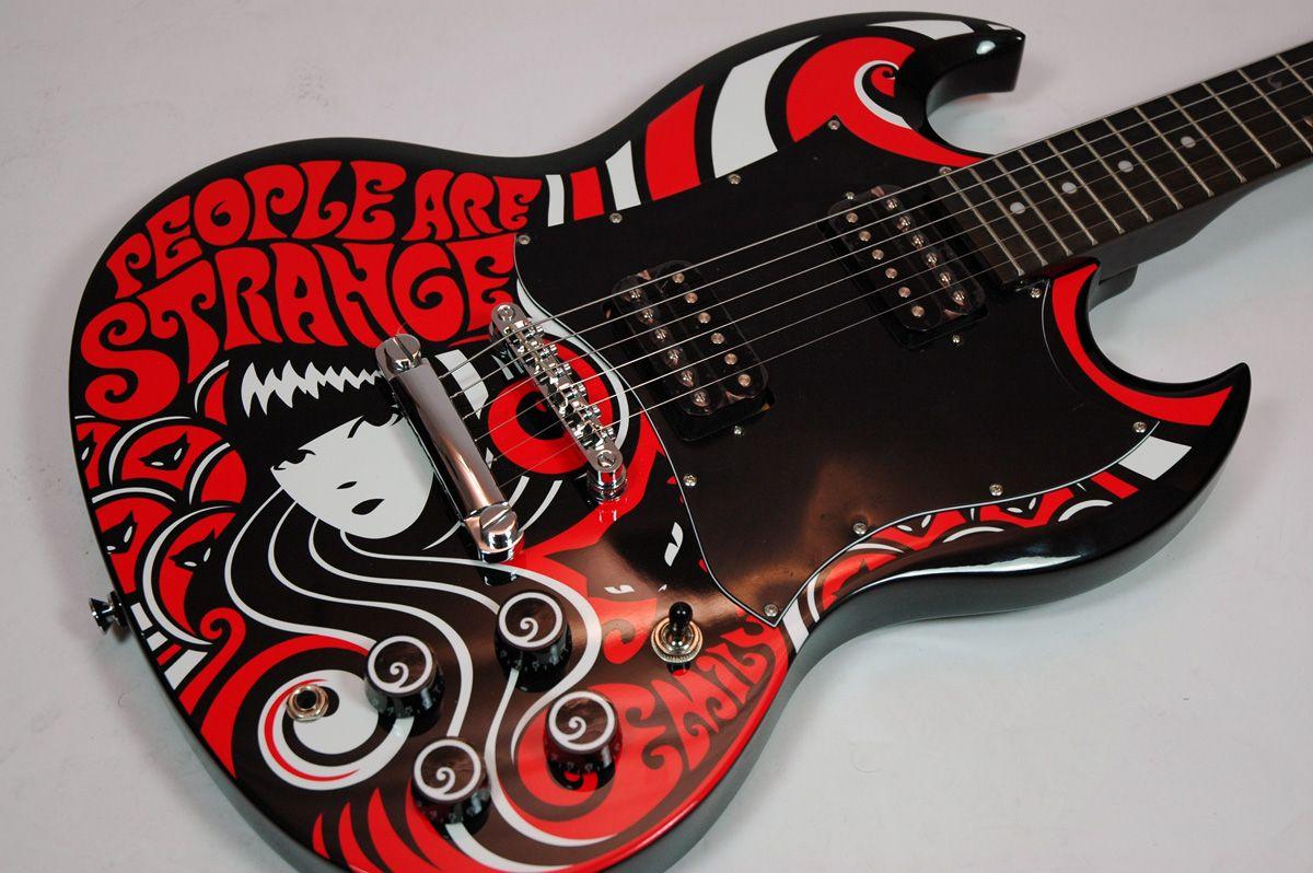 Drool On Guitars Epiphone Sg Emily The Strange G 310 Guitar Art Guitar Design Ziggy Played Guitar