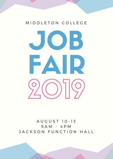 Pastel Abstract Job Fair Flyer Job Fair Flayer Pinterest Job Fair
