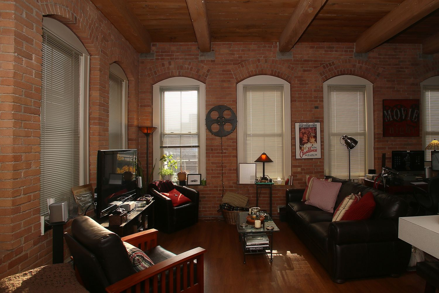 new york studio apartments brick wall simple old factory space has