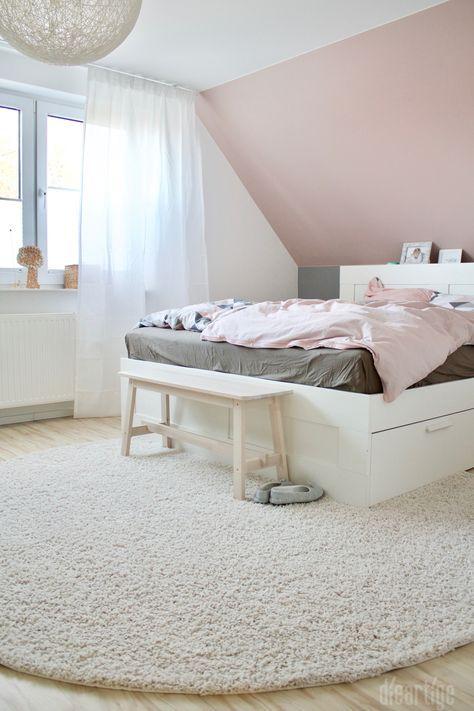 Fam. Z. Schlafzimmer Rosé, Grau, Weiß Zimmer