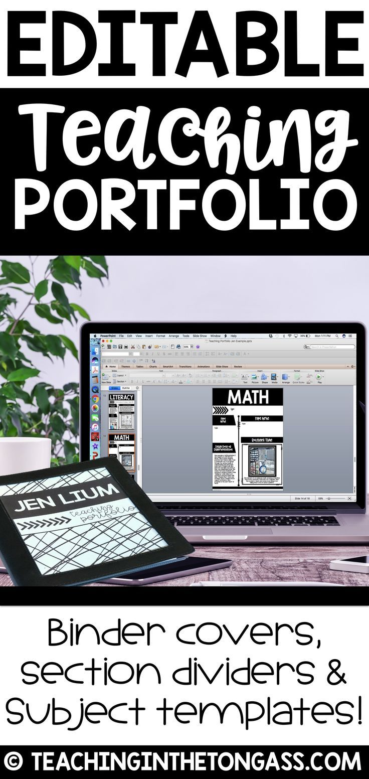 This EDITABLE Teaching Portfolio comes in a modern and clean design ...