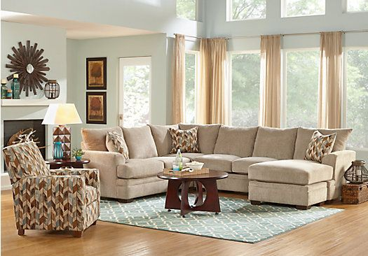 Brenton Court Platinum 5 Pc Sectional Living Room . . Find ...